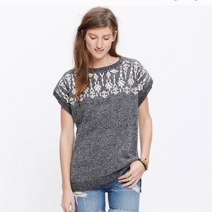 Madewell embroidered tunic sweater size S